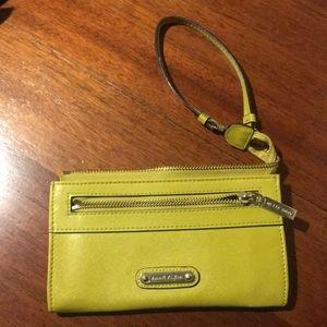 Anne Klein wristlet green yellow